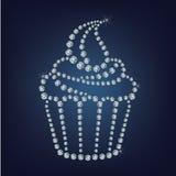 Le petit gâteau a composé beaucoup de diamants Images libres de droits