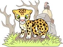 Le petit guépard mignon, conçoivent l'illustration drôle Photo libre de droits