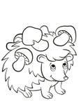 Le petit hérisson aimable mignon a les champignons sur les aiguilles illustration libre de droits
