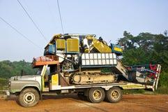 Le petit morceau récolté mécaniquement sur le vieux camion. photos libres de droits