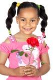 Le petit morceau un de fille s'est levé Image libre de droits