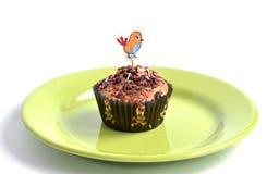 Le petit pain pour des enfants font la fête avec la photo de poule au dessus Image stock