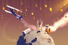 Le Petit Prince. 3D illustration of fairytale Petit Prince Royalty Free Stock Photography