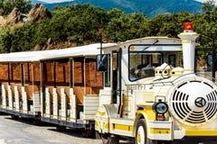 Le Petit Train en Collioure, al sur de Francia Imagen de archivo libre de regalías