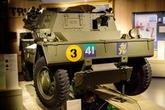 Le petit véhicule de dingo au musée national Londres d'armée images stock