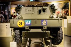 Le petit véhicule de dingo au musée national Londres d'armée photographie stock libre de droits