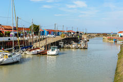 Le Petit village, Oyster farming site on Ile d Oleron, France Royalty Free Stock Image