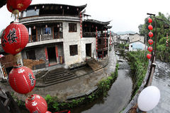 Le petit village Xiao Likeng, Chine Images stock