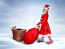 Le peu coup manqué Santa Photos stock