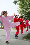 Le peuple chinois joue le taiji Photos libres de droits
