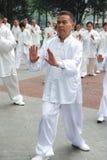 Le peuple chinois joue le taiji Photographie stock libre de droits