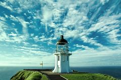 Le phare à la mer Photos libres de droits
