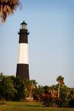 Le phare célèbre en Tybee Beach près de la savane, la Géorgie Photos stock
