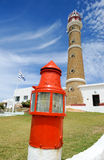 Le phare chez Cabo Polonio Photo stock