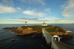 Le phare d'île de Pancha, Galicie Espagne Photographie stock libre de droits