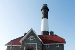 Le phare d'île du feu Photographie stock