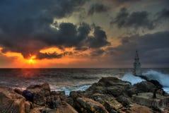 Le phare d'Ahtopol Photos stock