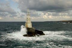Le phare d'Ahtopol, Bulgarie Photos stock