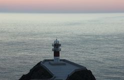 Le phare d'Ortegal de cap, Galicie, Espagne Image stock