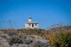 Le phare dans Kapsali, Kythera, Grèce photo stock