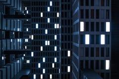 Le phare dans la d?cellulation Sens de film de science-fiction photos libres de droits