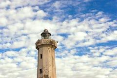 Le phare dans le ciel Image libre de droits