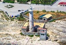 Le phare de Brucoli Photos libres de droits