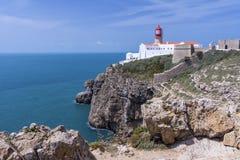 Le phare de Cabo font le sao Vicente Cape Vincente Image libre de droits