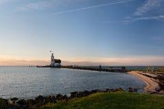 Le phare de Marken Photo libre de droits