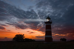 Le phare de Närs, Gotland Images stock