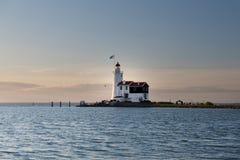 """Le phare de Paard van Marken, traduit comme """"Horse de  de Marken†Images stock"""