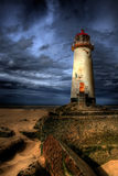 Le phare de Talacre Image stock