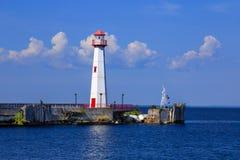Le phare de Wawatam sur les détroits de Mackinac Image libre de droits
