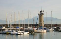 Le phare, Desenzano del Garda photo stock