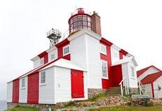 Le phare historique de Bonavista de cap dans Terre-Neuve, Canada photographie stock