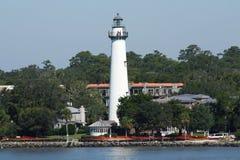Le phare indique bonjour au marin Photographie stock libre de droits
