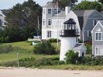 Le phare ornemental Hyannis ha de point de la Manche Image libre de droits