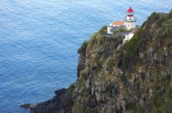 Le phare sur Ponta font Arnel, Nordeste, sao Miguel Island, îles des Açores, Portugal Images stock
