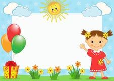 Le photo-cadre des enfants. Image libre de droits