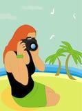 Le photographe de plage Image libre de droits