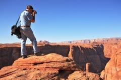 Le photographe sur le Colorado Image libre de droits