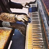 Le pianiste Photo stock