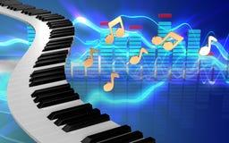 le piano 3d verrouille des clés de piano Images stock