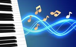 le piano 3d verrouille le blanc Image libre de droits