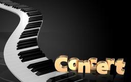 le piano 3d verrouille le signe de concert illustration de vecteur