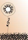 Le piano introduit la fleur illustration stock