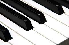 Le piano introduit le plan rapproché Photographie stock libre de droits