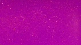 Le piccole particelle si muovono a caso su un fondo colorato video d archivio