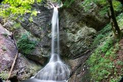 Le piccole rapide e cascate ad inferno Pekel si rimpinzano di in Borovnica vicino a Transferrina immagini stock