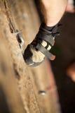 Le pied du grimpeur Photos stock